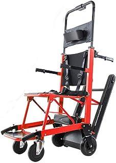 La silla de ruedas eléctrica plegable puede subir escaleras. Silla de ruedas portátil. Viaje ligero, para discapacitados y ancianos. Sube y baja la escalera completamente automática.,Rojo
