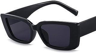 ShSnnwrl Gafas De Moda Gafas De Sol Gafas De Sol Cuadradas De Moda Viajes Vintage Retro Pequeñas Mujeres Gafas De Sol Rectangulares Uv400 C1Fullblack