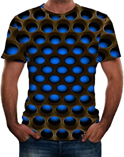 Unisex Tops 3D Printed T-Shirts Pattern Printed Short Sleeve Casual Comfort Blouse