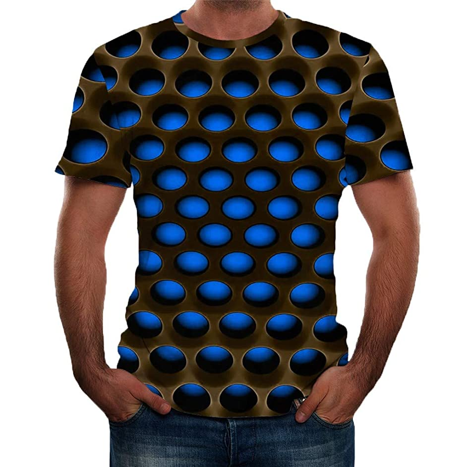 Sharemen 3D Print T-Shirt Fashion Graphic Tee Crewneck Short Sleeve T-Shirts for Men Casual Short Sleeve T-Shirts