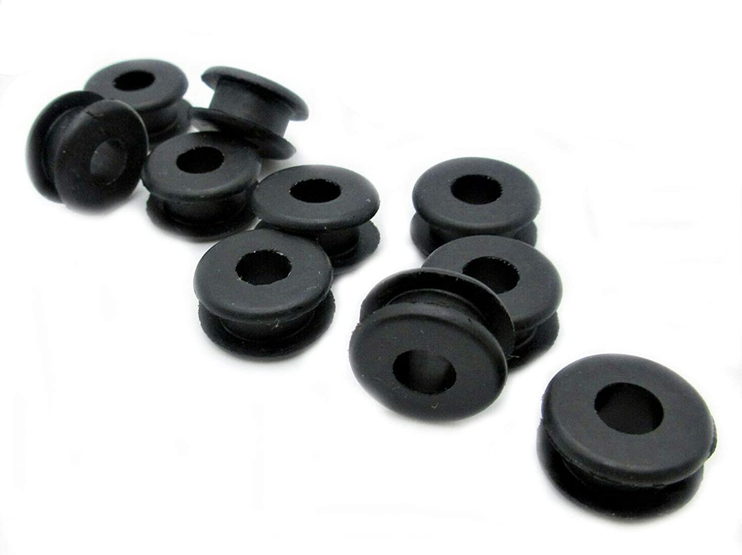"3//16/"" ID x 1//2 OD SBR Rubber Grommet Black Rubber Grommet Round Rubber Grommet Rubber Grommets for 3//8 Panel Hole Fits 1//8/"" Panel 50"