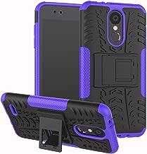 LG Aristo 2 Case, LG Tribute Dynasty/Zone 4/Fortune 2/K8 2018/K8+/K8 Plus/Risio 3/Rebel 3 LTE/Aristo 2 Plus Case, Ankoe Heavy Duty Shockproof Protective Case with Kickstand (Purple)