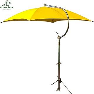 Complete Yellow JD Canvas Umbrella Frame & Mounting Bracket TU56 Farmer Bob's Parts 405457