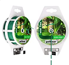 Garden Plant Twist Tie Reel, Reusable Plastic Ties, Multi-Use Sturdy Tree Tie Cable with Cutter for Gardening Plants Tree Flower,Home and Office Organization - 328 feet (2 Pack)