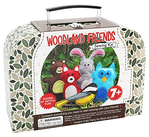 Woodland Animals Kids Sewing Craft Kit,...