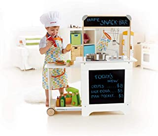 "Hape E3126 Cook N Serve Wooden Play Kitchen,Yellow,""L: 37, W: 11.8, H: 38 inch"""