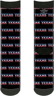جوارب تكساس للجنسين من باكل-داون، أسود/أبيض/أزرق/أحمر، متعدد الألوان،