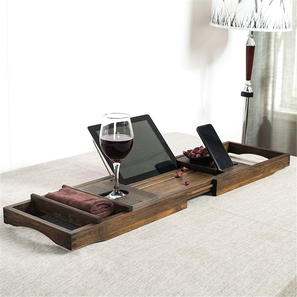 Bathtub Caddy Trays - Bamboo Max 90% Now on sale OFF Sides Bath Re Extending with