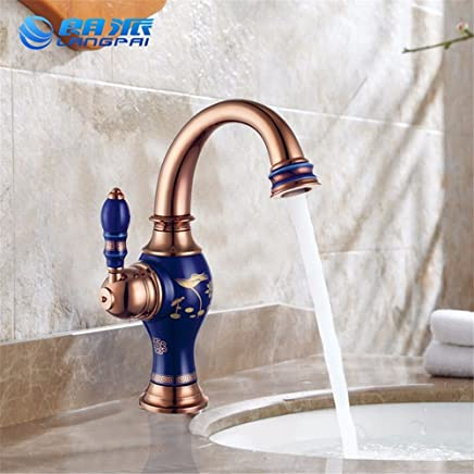 Hlluya Professional Sink Mixer Tap Kitchen Faucet Basin-copper basins and cold water faucet bathroom basin single-hole Faucet