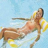 Hamg Mock inflable Pool Float, 4 en-1 Piscina multiusos hamaca (silla de silla, silla de salón, hamaca, drifter) Silla de piscina, Hamaca de agua portátil Hamaca Sillón Toyas al aire libre, Dorado Dir