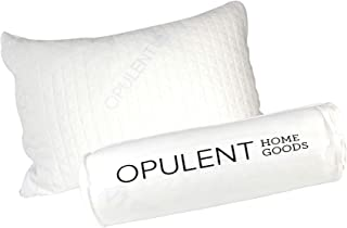 Opulent Home Goods- Luxurious Pillows Certipur-US, 100% Original Shredded Memory Foam, Hypoallergenic, Washable and Removable Bamboo Cover with No Flat Warranty. (Standard (20x26))