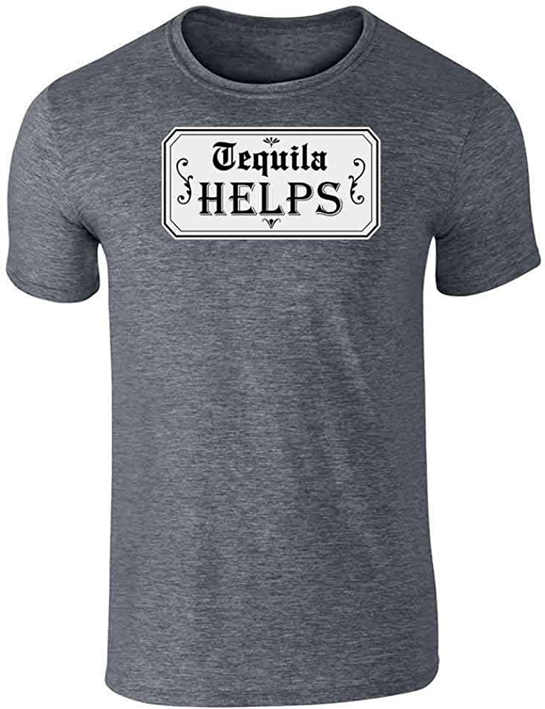 Tequila Helps Cinco de Mayo Funny Drinking Graphic Tee T-Shirt for Men