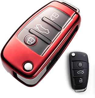 Schutzhülle für Audi Schlüsselanhänger, speziell weiches TPU, kompatibel mit Audi A3 A1 A3 A6 Q2 Q3 Q7 TT TTS R8 S3 S6 RS3 A6L