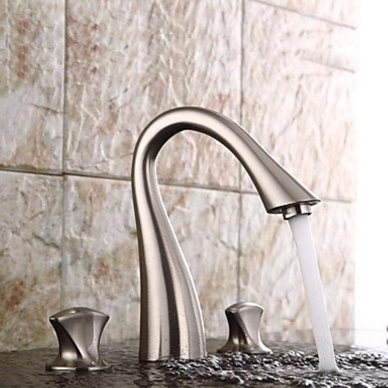 Traditionelles Centerset Einzelgriff Ein Loch in Bronze Bronze Waschbecken Wasserhahn