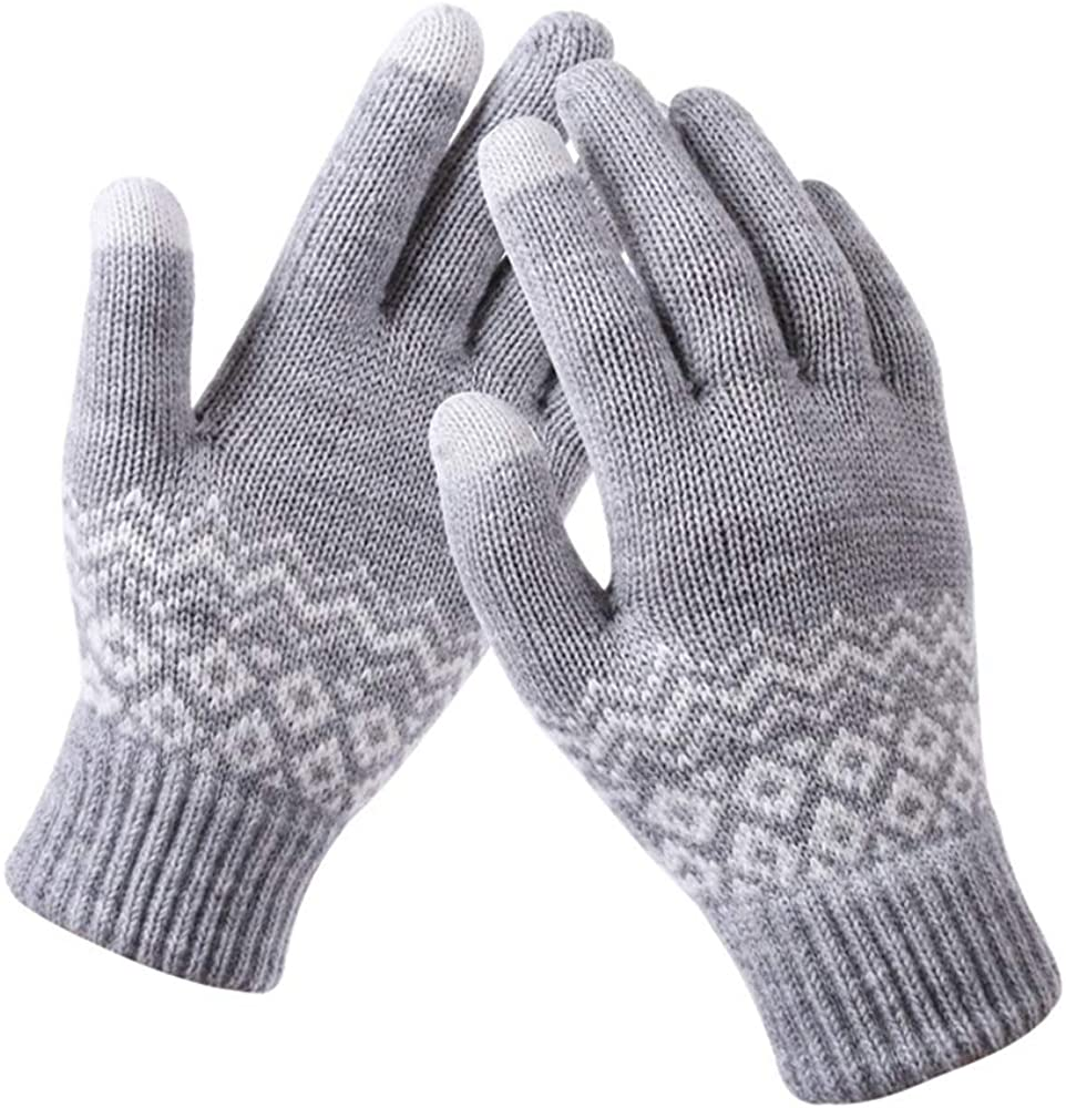 Fashyner Fashion Elastic Cuff Driving Cycling Outdoor Mittens Winter Gloves Warm Knit Gloves Touch Screen Gloves