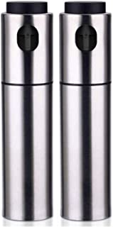 Oil Sprayer Dispenser Set Portable Kitchen Oil Spray Bottle Stainless Steel Olive Oil Dispenser and Vinegar Sprayer for BB...