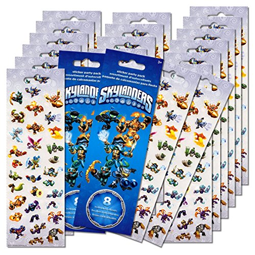 Skylanders Stickers Party Favors Pack - 16 Sheets of Skylanders Stickers