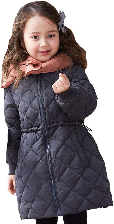 YZ-HODC Kinder-Daunenjacke, Kinder-Winterjacke, Mdchen-Daunenjacke, Langer Abschnitt, Größe, 90 bis 130 cm