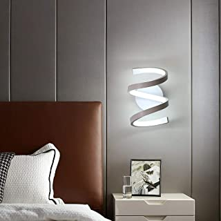 Goeco Lampada da Parete LED interni, Applique da Parete acrilico 18W, Lampada Muro spirale per Soggiorno Camera da letto T...