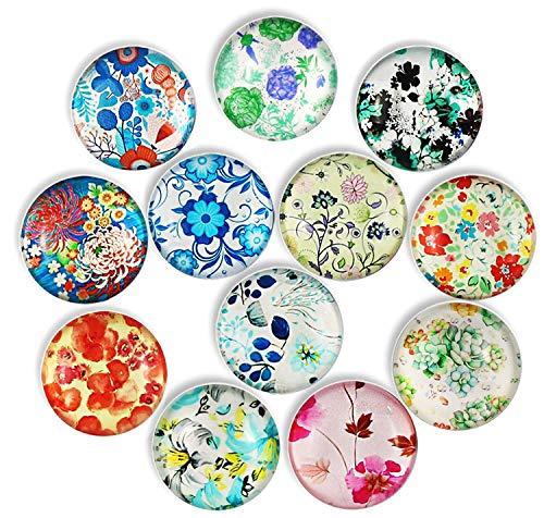 Magneti per frigorifero a fiore 12 pezzi, magneti per frigorifero in cristallo Cosylove per mobili da ufficio, lavagne, foto, magneti decorativi belli per regalo, decorazioni per la casa