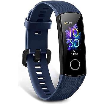 HONOR Band 5 Pulsera Actividad Inteligente Pulsera de Actividad con Pulsómetro SpO2 Sueño Podómetro Monitor de Actividad Impermeable IP68 Smartwatch Fitness Tracker Azul (Versión Global)