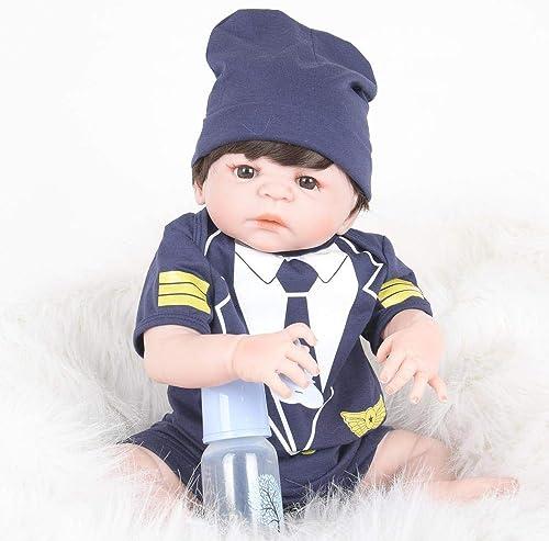 Hongge Volle Silikon Vinyl Reborn Babypuppe realistische mädchen Baby Puppen Zoll-cm lebensecht Prinzessin Kids Toy Kinder Geburtstagsgeschenk
