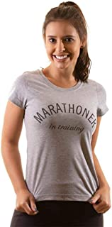 T-shirt Camiseta Feminina Baby Look Algodão - Marathoner in Training
