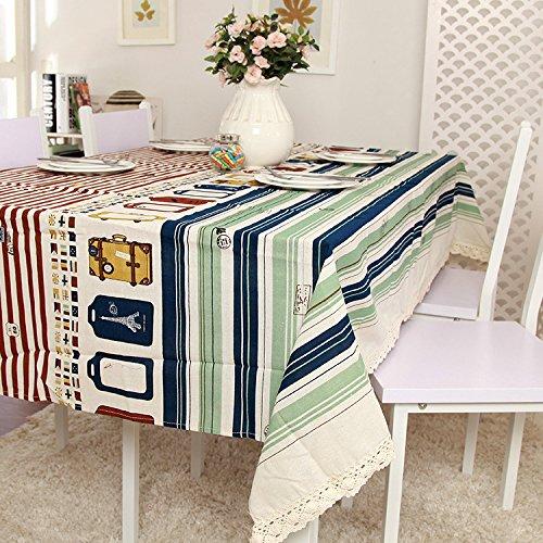 Nappe Serviette Rectangle Carré Coton et lin , 90x90cm