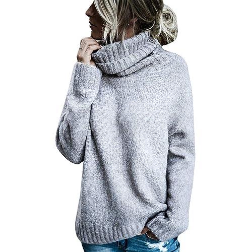 e14b4c1b6fc Oversized Turtleneck Sweater: Amazon.com
