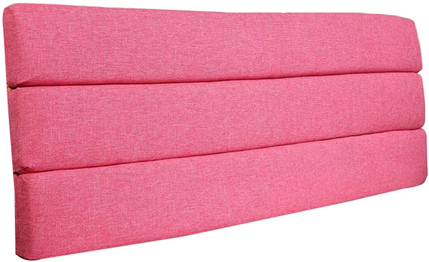 Backrest Bed Cushion Without Headboard Upholstery Linen Soft Headrest Upholstered Lumbar Pads, 4 colors (color   Pink, Size   150  60  6cm)