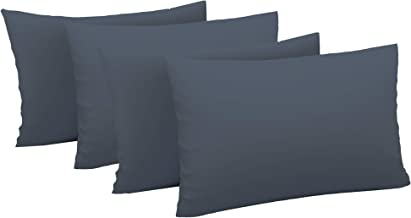 Just Linen Value Pack of 300TC 100% Cotton Sateen Solid, 2 Pairs of Large Size Pillow Covers