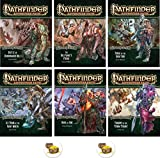 Bundle of Pathfinder Complete Adventure Path Giantslayer 1 to 6 Plus Two Treasure Chest Buttons