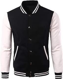 White Varsity Baseball Jacket Men 2019 Fashion Slim Fit Fleece Cotton College Jackets for Fall Bomber Veste Homme