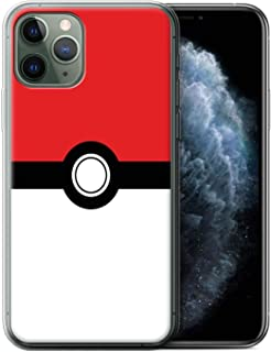 eSwish Gel TPU Phone Case/Cover for Apple iPhone 11 Pro/Red Design/Pokeball Anime Inspired Collection