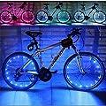 Baiyu Bike Bicycle Spoke Lights Waterproof 2 Modes Cycling Wheel Tire Lights Steel Wire rim 20 LED Flash Light