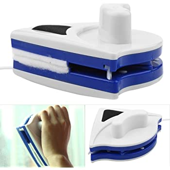 Lave Vitre Magnétique Nettoyeur de Vitres Double Latérale Nettoyeur de Fenêtre Équipement de Lavage Outils D'essuie-glace pour Une Epaisseur de Verre de 3-8mm