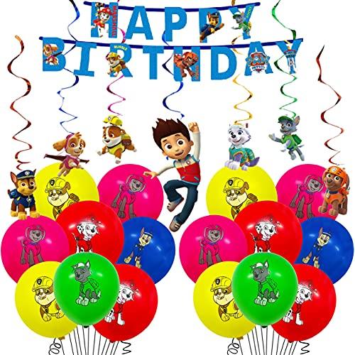 Suministros de fiesta de Patrulla Canina, Globos de Patrulla Canina, decoraciones de fiesta de cumpleaños
