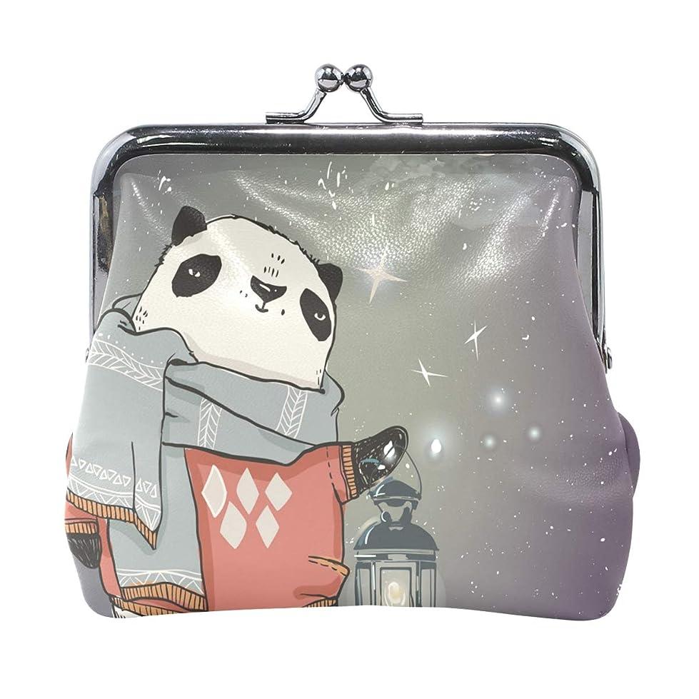 グリーンランド通り抜ける選択がま口 財布 口金 小銭入れ ポーチ パンダ 可愛い ANNSIN バッグ かわいい 高級レザー レディース プレゼント ほど良いサイズ
