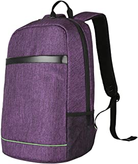 Student Youth Backpack, Red USB Charging Interface Computer Backpack, Casual Multi-Function Backpack,Purple