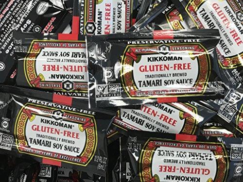Kikkoman Gluten-Free Tamari Soy Sauce Single Portion Packs (50 Pack-6 mililiter)