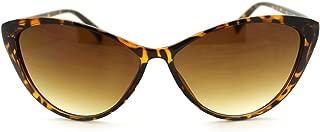 Womens Vogue Chic Thin Plastic Mod Goth Clean Cat Eye Sunglasses