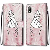 ShinyHülle für Huawei Y5 2019/Honor 8S,Lederhülle Brieftasche Handyhülle ID Kartenfächer Magnetischer Etui Protective Anti-Scratch Schutz PU Leder Hülle für Huawei Y5 2019/Honor 8S -Liebe Zeigen