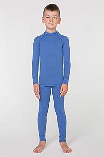 meteor Conjunto Ropa Interior Térmica para Niños - Camiseta de Manga Larga y Pantalón - Set Infantil Elástico para Esquí S...