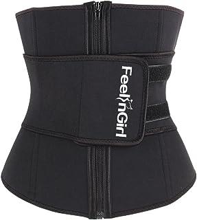 FeelinGirl Women Neoprene Sweat Waist Trainer Corset Trimmer Belt Waist Cincher Body Shaper