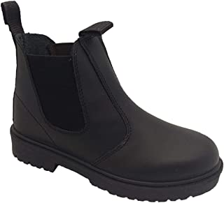 Grosby Boys Boots Rustle Black Leather Size 5