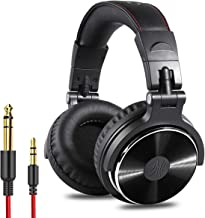 OneOdio Adapter-Free Closed Back Over-Ear DJ Stereo Monitor Headphones, Professional Studio Monitor & Mixing, Telescopic Arms with Scale, Newest 50mm Neodymium Drivers- Glossy Finish (Black)