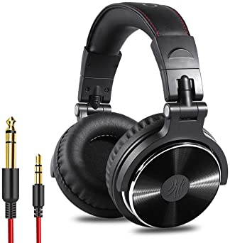 OneOdio Wired Over Ear Headphones - Studio Monitor & Mixing DJ Stereo Headsets with 50mm Neodymium Drivers and 1/4 to...