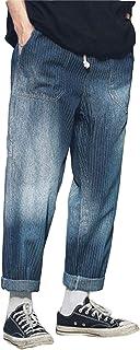 MLbossメンズ ワイドパンツ ゆったり ジーンズ ストレートパンツ 春 秋 ロングパンツ 原宿系 ファッション ゆる デニムパンツ