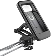 Support de téléphone portable pour guidon de moto - Étanche - Support de guidon pour vélo - Anti-vibration - Support de fi...