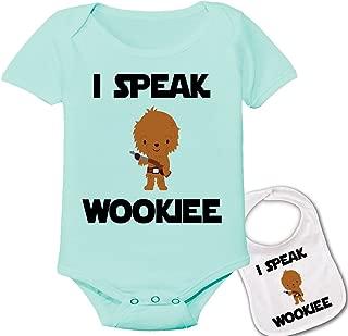 I Speak Wookee Star Wars Baby Bodysuit Onesie & Matching bib